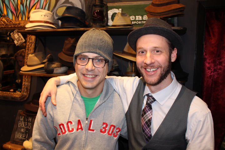 Artist, Josh Ellingson picks up a beanie