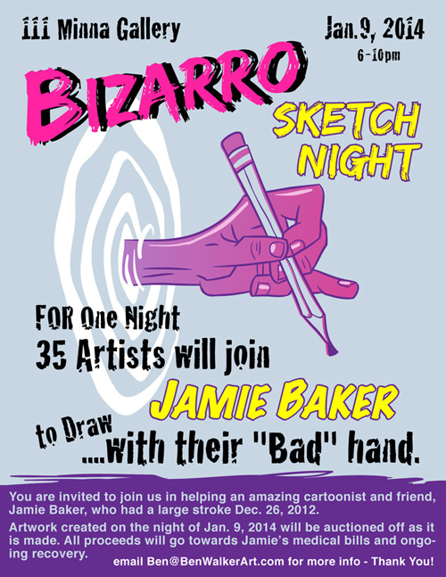 Bizarro Sketch Night, A Benefit for Jamie Baker