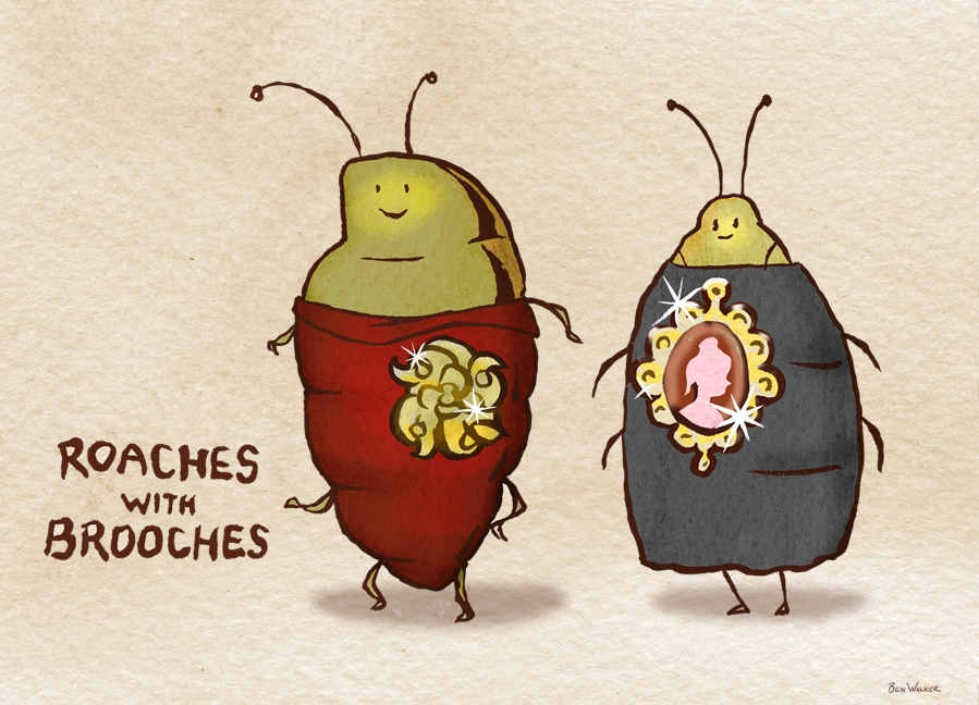 Roaches-brooches