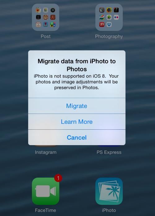 iOS 8 tease...