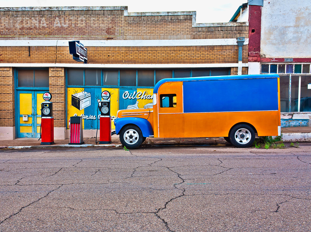 Orange Truck, Bisbee, AZ