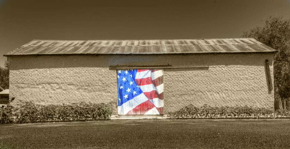 Patriotic Barn, Mesilla, NM