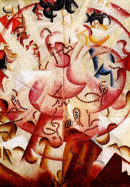 Title: Dancer at Pigalle's Artist: Gino Severini Completion Date: 1912 Style: Futurism