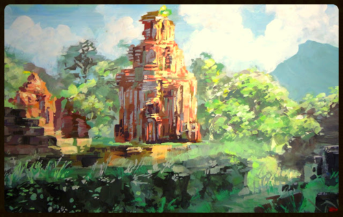 My So'n Temple Ruins                    Khoa Tran  Khoa Tran  is a graphic designer and     creator of    PianoShortcuts