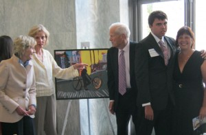 Kevin with Jean Kennedy Smith, Lois Capps, James Billington at a Congressional reception in September 2012
