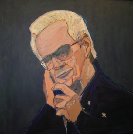 JD Sumner, Gospel Singer, oil, 2004