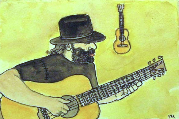 Colin Linden, watercolor, 2007