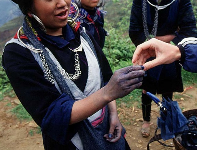 "Valley Girls: The Blue Hmong, story I wrote on making indigo or ""cham"" in Vietnam. image: Sandy Nicholson"