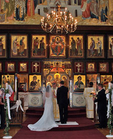 An Orthodox wedding service