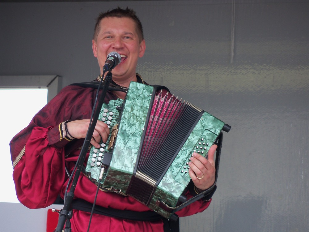 Barynya performer playing accordion