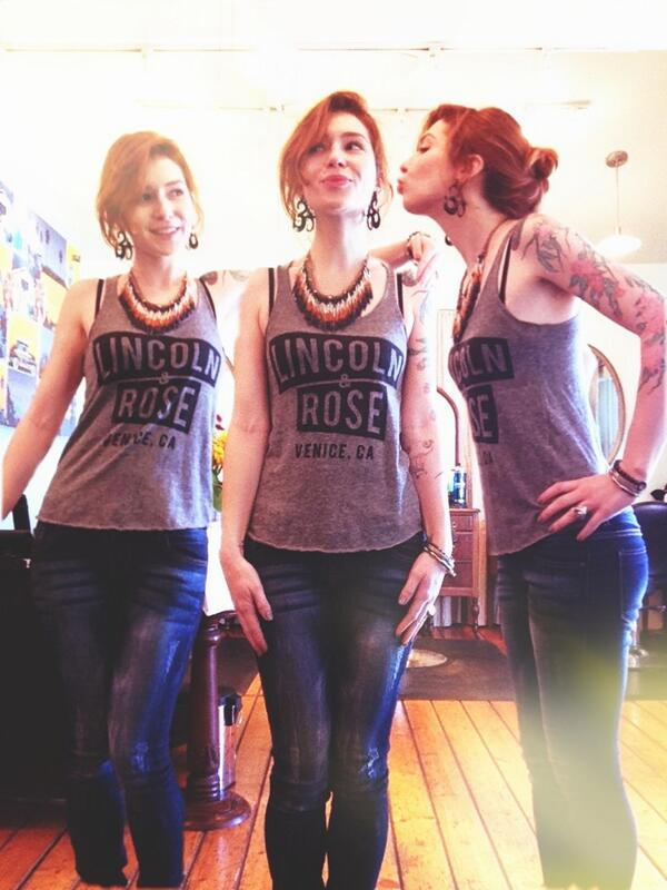 It's  Ohm Salon 's Bee times 3 in her L&R tee!