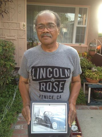 Jimmy Jones your dad is cool beyond words! Here's Mr. Phillip Jones, who grew up in Venice, with a photo of his '47 Chevy he used to drag race around town. Every Monday, you can find him in the neighborhood helping to feed people in need.