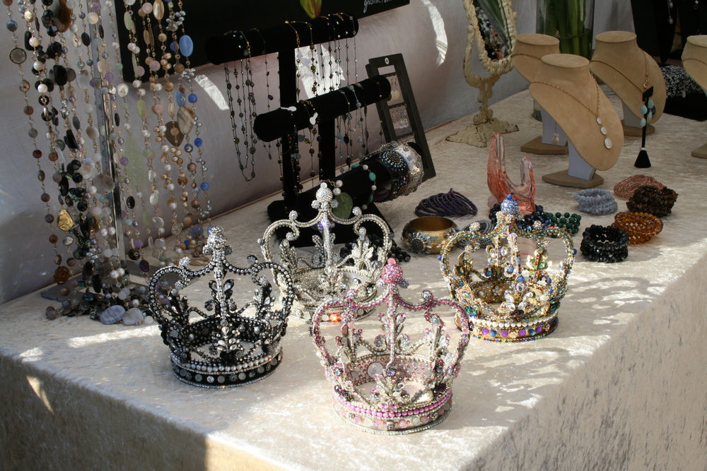 Beaded crowns and accessories. (Photo by Kathy Urso)