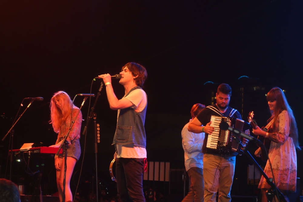 Conor Oberst joins First Aid Kit on stage.