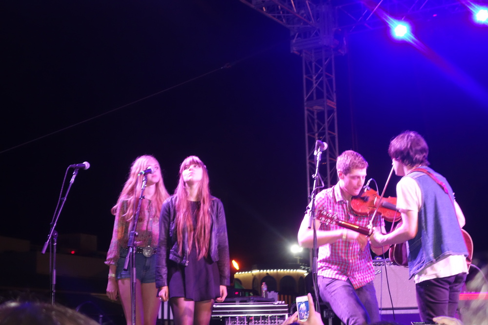 First Aid Kit joins Oberst on stage