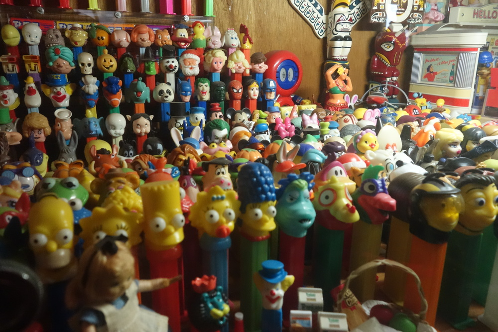 Rose's impressive Pez dispenser collection.
