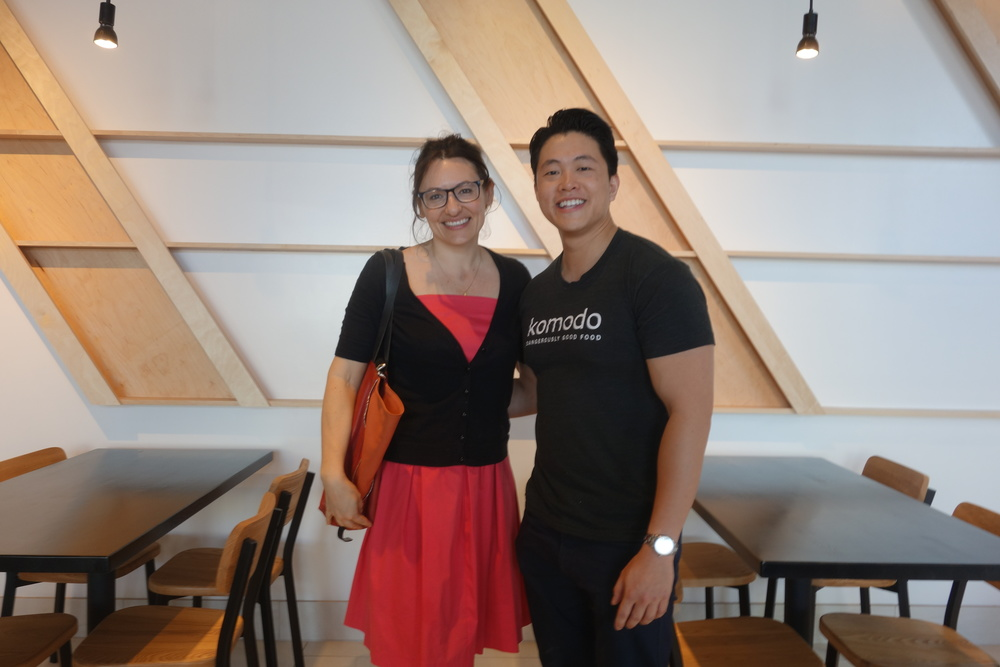MASS Architecture's Ana Henton with Komodo owner and Chef Erwin's brother, Eric Tjahyadi.