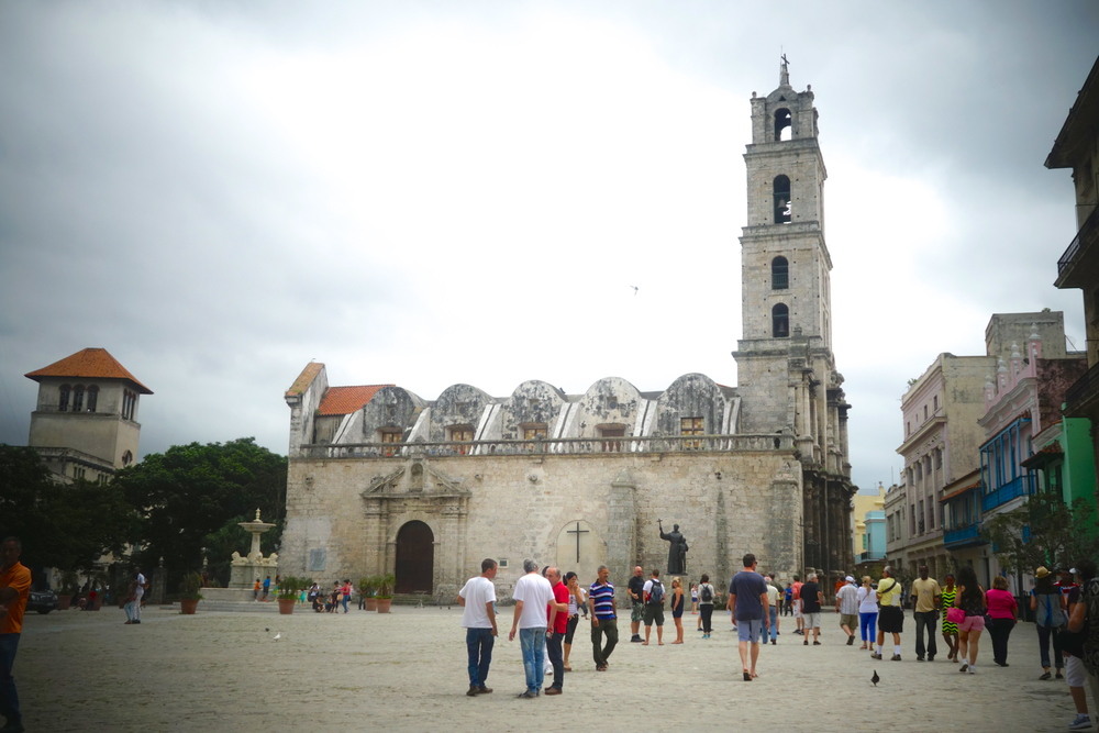 Built in the 16th century, St. Francis of Asisi Church is now used as a museum and event space. Cuba's most practiced religion today is Santeria, a combination of Catholicism and African religions.