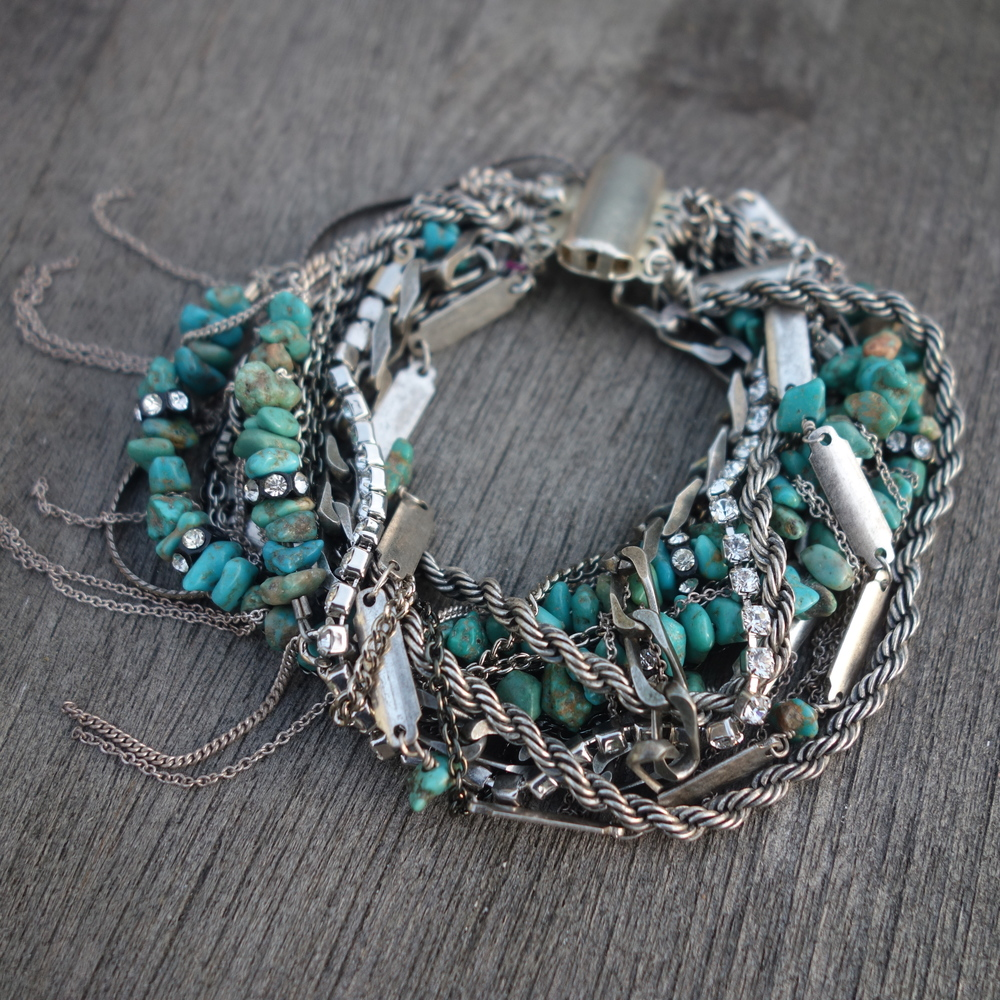 Sid Vintage Jewelry:  Turquoise Cuff , $230
