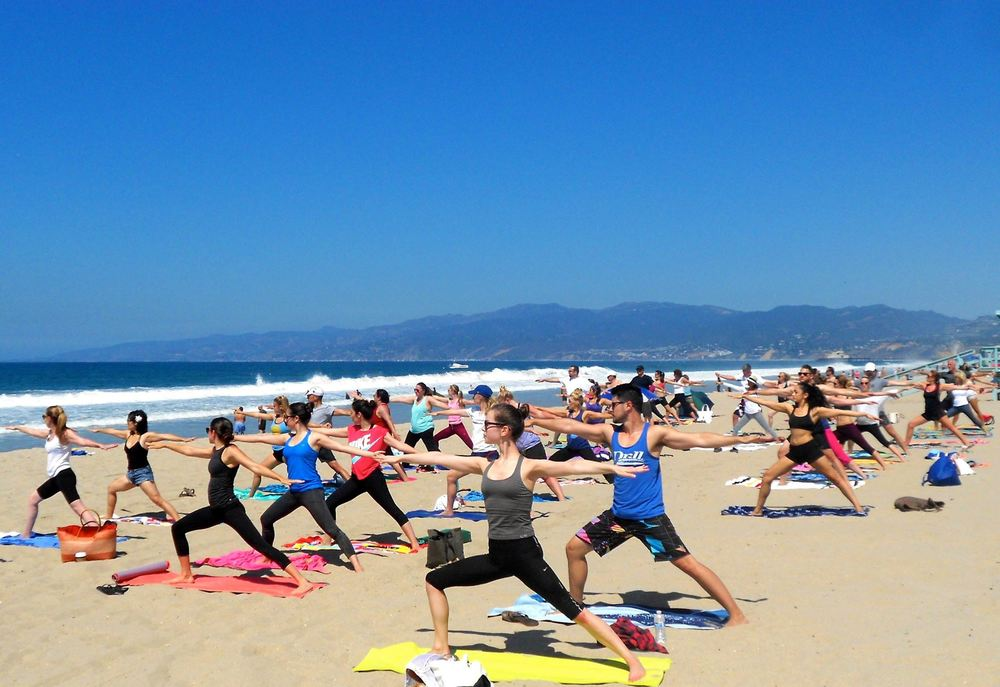 ( Photo courtesy Beach Yoga With Brad And Friends)
