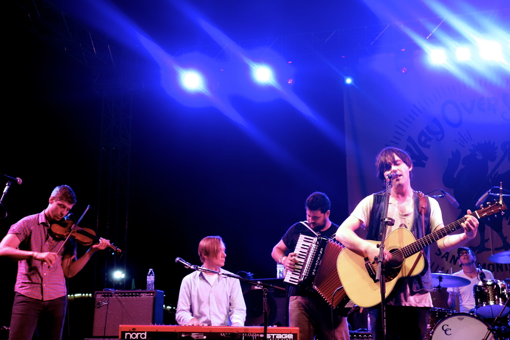 Conor Oberst headlining last year's first Way Over Yonder folk festival at the Santa Monica Pier.