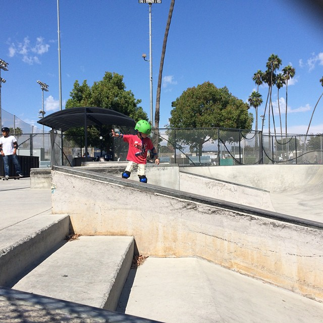"""""""First day at the Santa Monica skate park."""