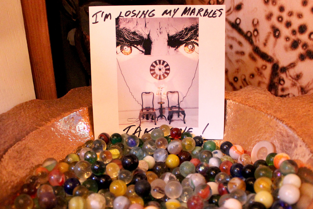 "Anyone who visits Budman's studio is asked to take home his marbles because, he laughs, ""I'm always losing them."""