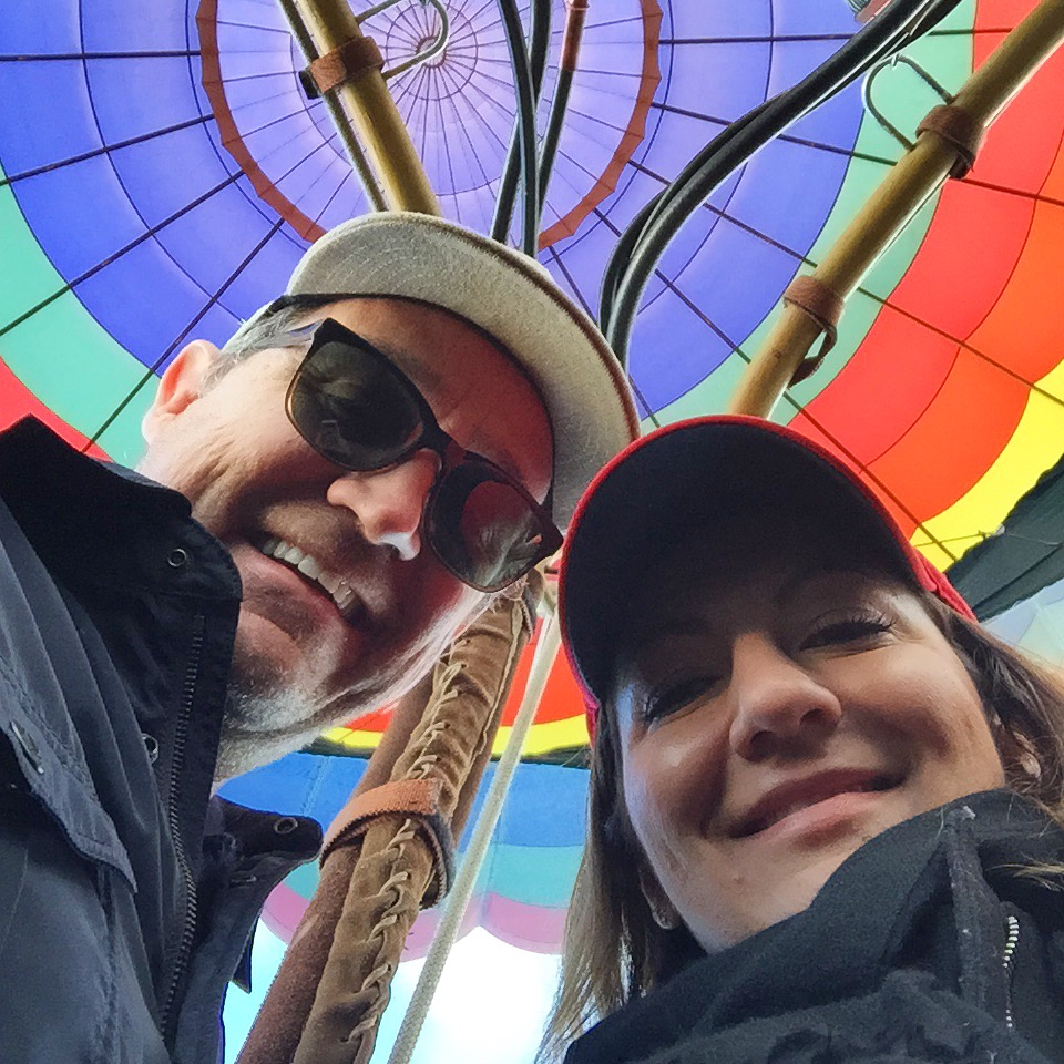 Here we go! 3,000 feet above Napa in a hot air balloon.