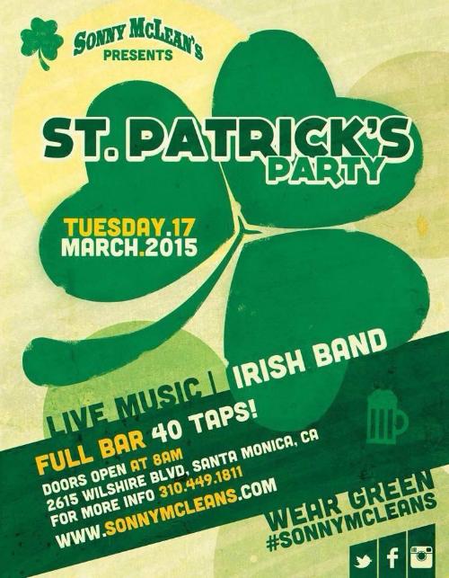 Sonny McLean's St. Patrick's Day
