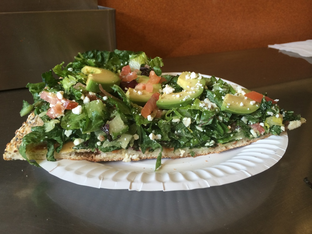 Abbot's salad pizza.