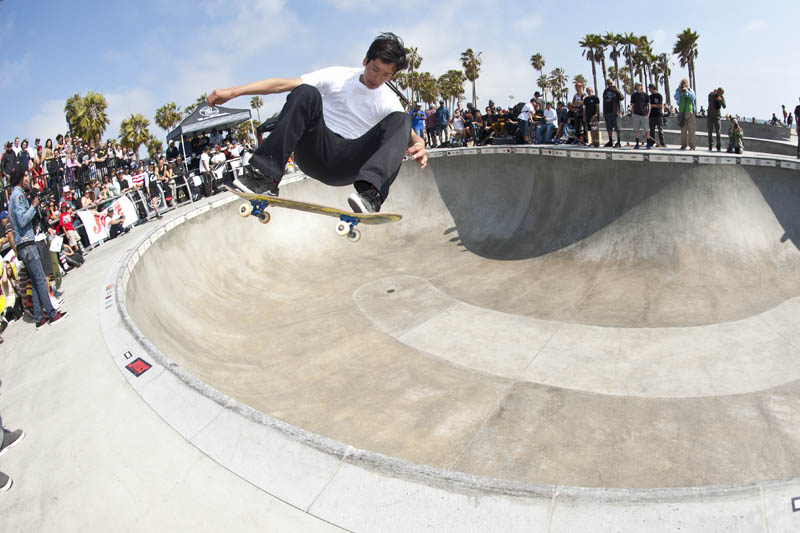Andrew Wallace, first place winner of the 2014 Z-Flex Jay Boy Classic at Venice Skate Park. ( Photo: Joe Hammeke  )