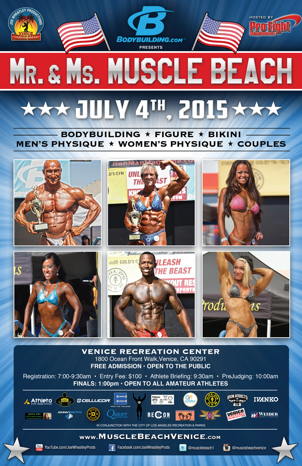 Mr. & Mrs. Muscle Beach - July 4th 2015