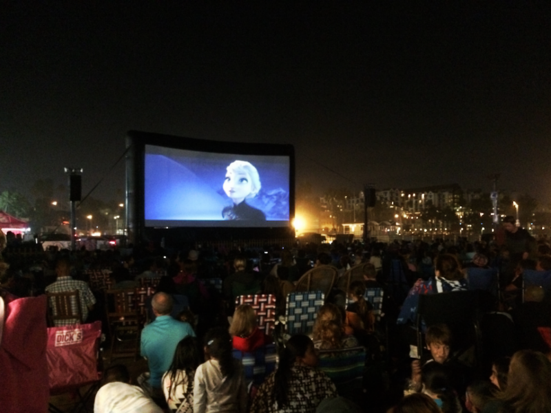 A screening of Frozen last year at the Santa Monica Pier.
