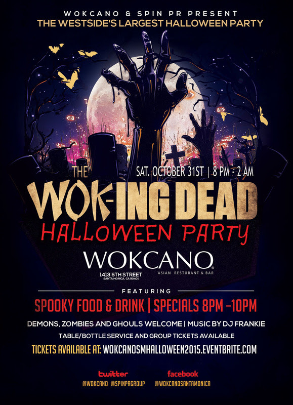 fright seekers beware of the largest and spookiest halloween party on the westside at wokcano santa monica halloween night the zombies will collide at