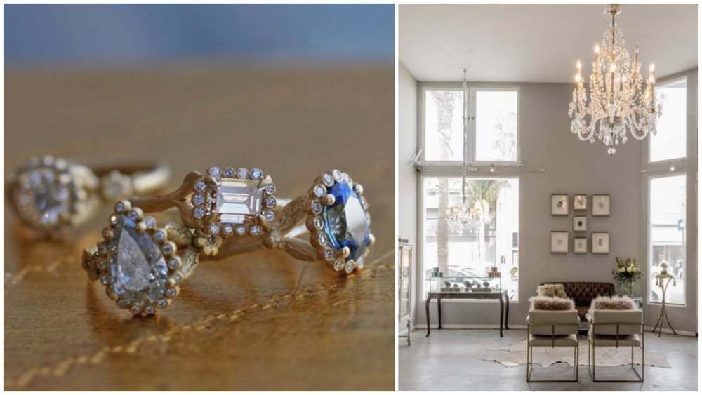 Whimsical engagement rings with the alt bride in mind designed by Venice jeweler Sophia Kaman. (Photos by Sophia Kaman Fine Jewels)