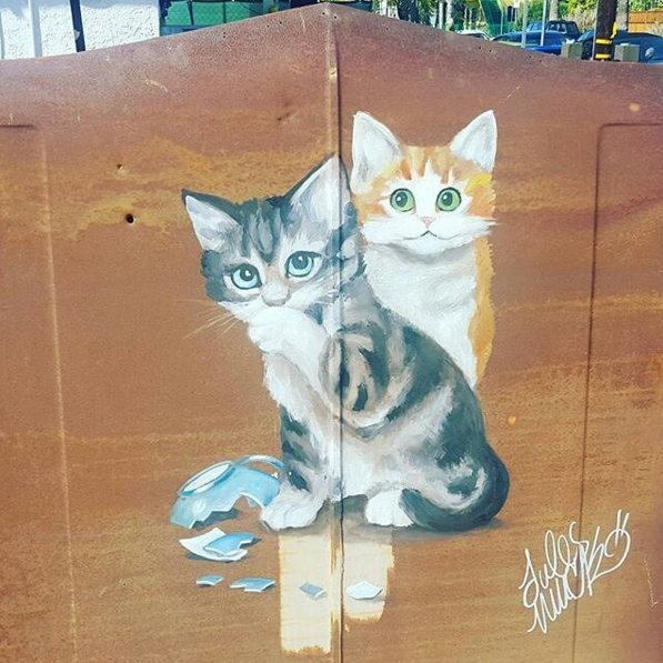 Jules Muck Kitty Mural ( Photo by  The Cat Club  )