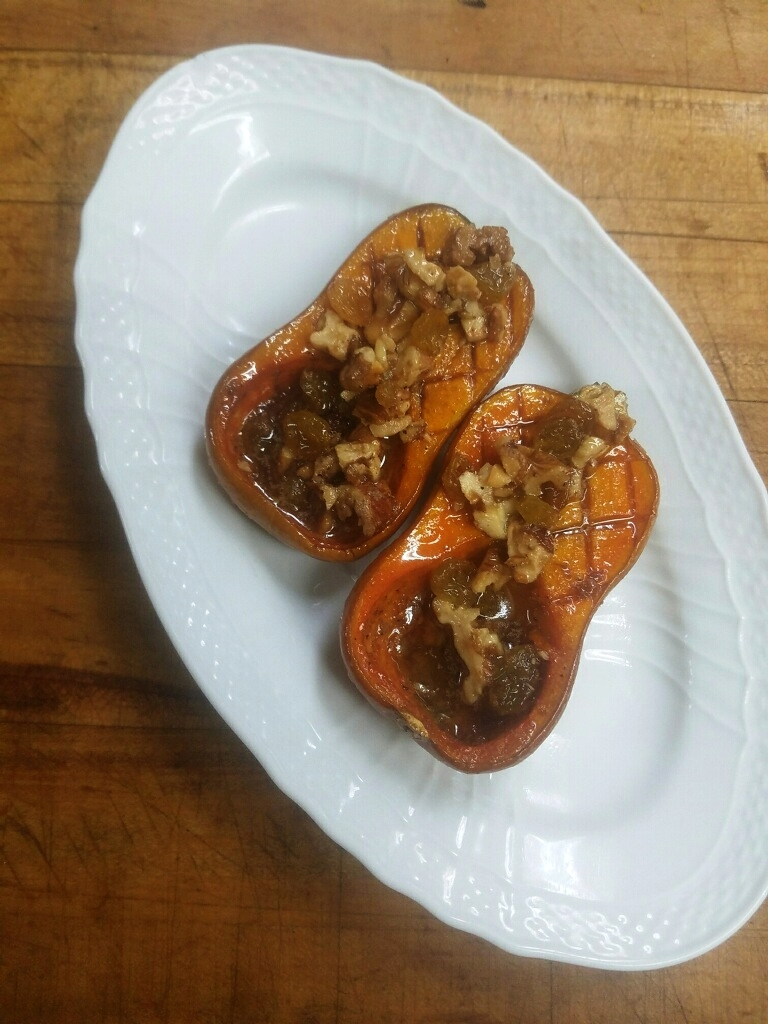 Roasted butternut squash with honey and walnuts. (Photo by The Tasting Kitchen)