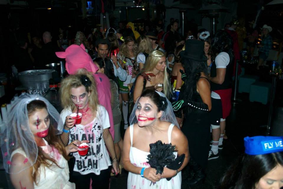 downtown santa monicas wokano bar and restaurant always goes big on halloween their annual event draws a packed house for food and drink specials