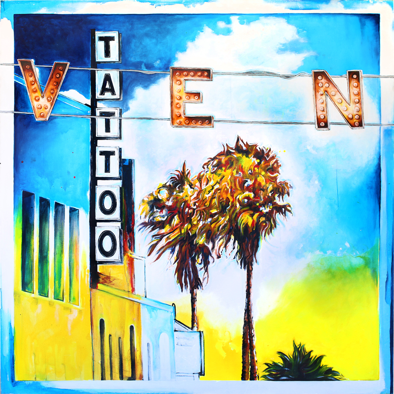 """Venice & Windward"" // Painted by Venice Beach artist Patrick Marston. Painted with oil and acrylic on canvas."