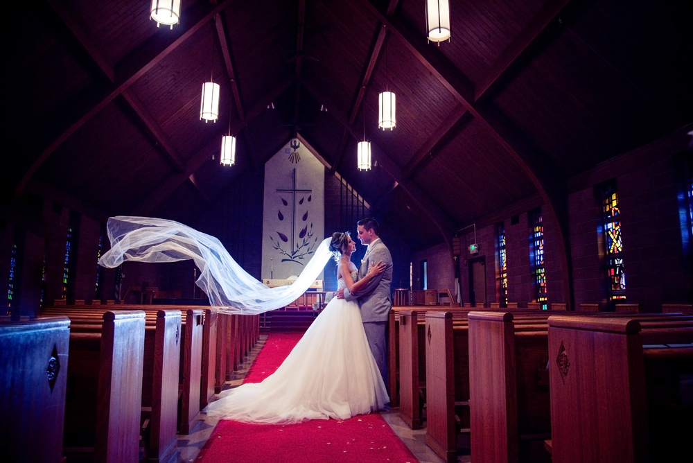 Floating Veil photo inside church