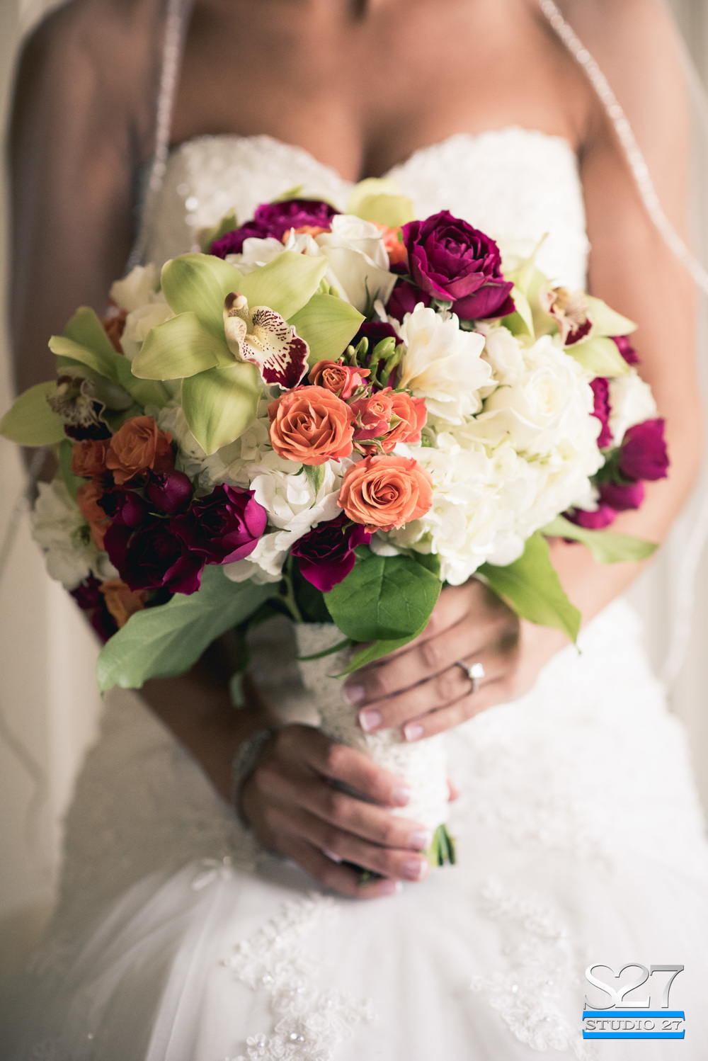 Bridal Bouquet with Grandmother's lace