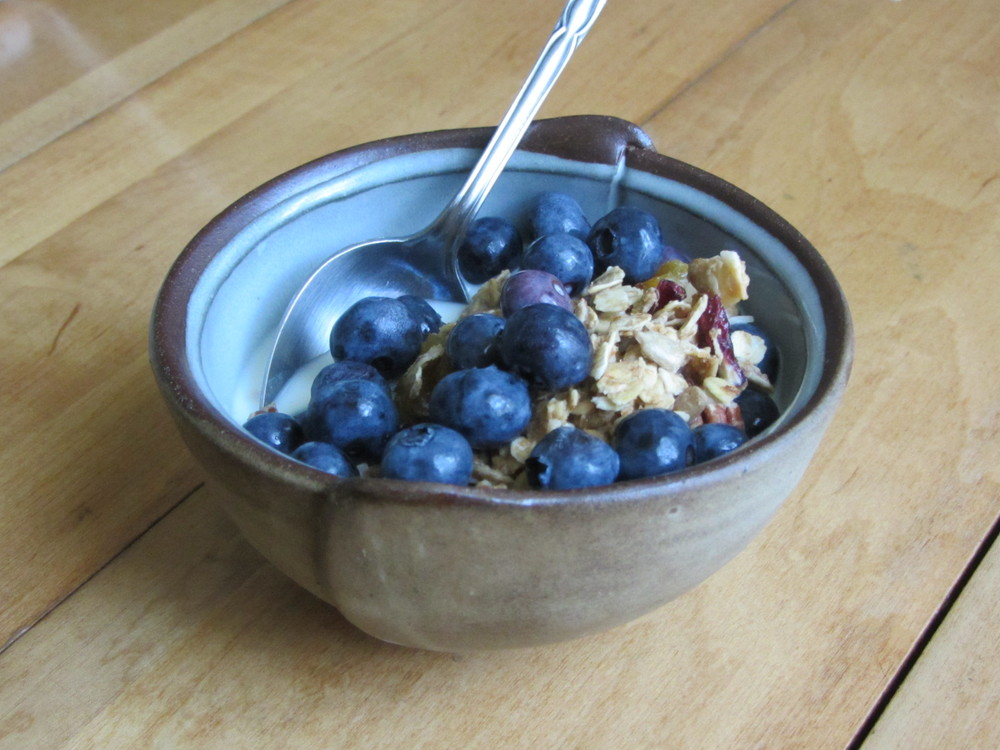 Molly Kite Spadone's bowl that I eat breakfast out of everyday.