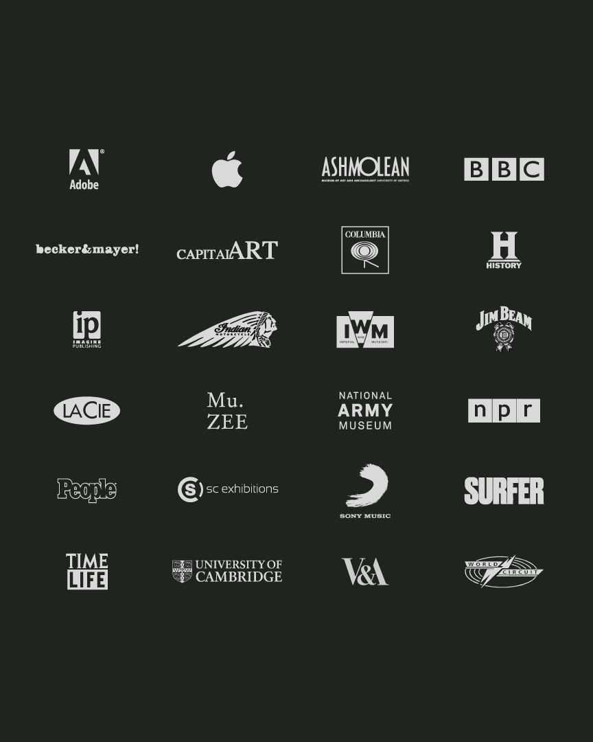 Collaborators - We have been incredibly fortunate to work with some of the world's best brands and institutions. If you are thinking about seeing your photographs in a different way, then please drop us a line.