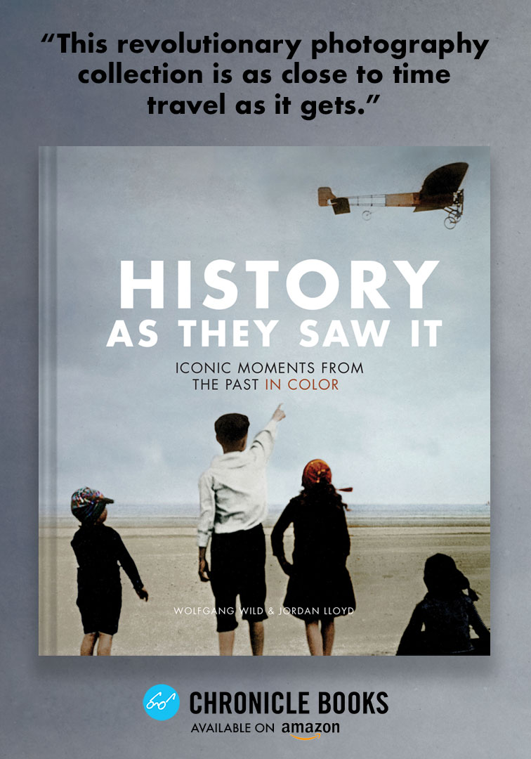 History As They Saw It - Chronicle BooksWith over 120 historic black-and-white photographs thoroughly restored and rendered in color, History As They Saw It illuminates some of the most iconic moments in history, from the sinking of the Titanic to the construction of the Golden Gate Bridge •