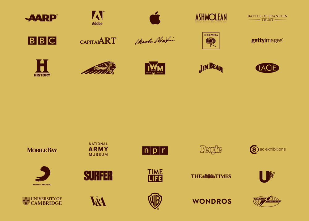Collaborators - We're fortunate to work with some of the world's leading cultural brands; from archives and museums to music and movies •