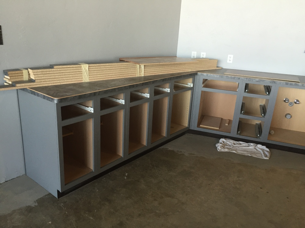 Coffee Bar Cabinetry Painted