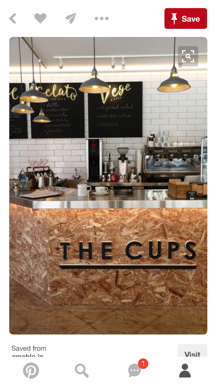 Inspiration for coffee Bar