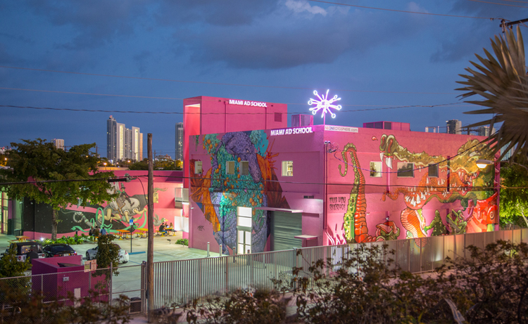 Miami Ad School With The City Skyline In Distance This New Academic Campus And Headquarters Utilizes Its