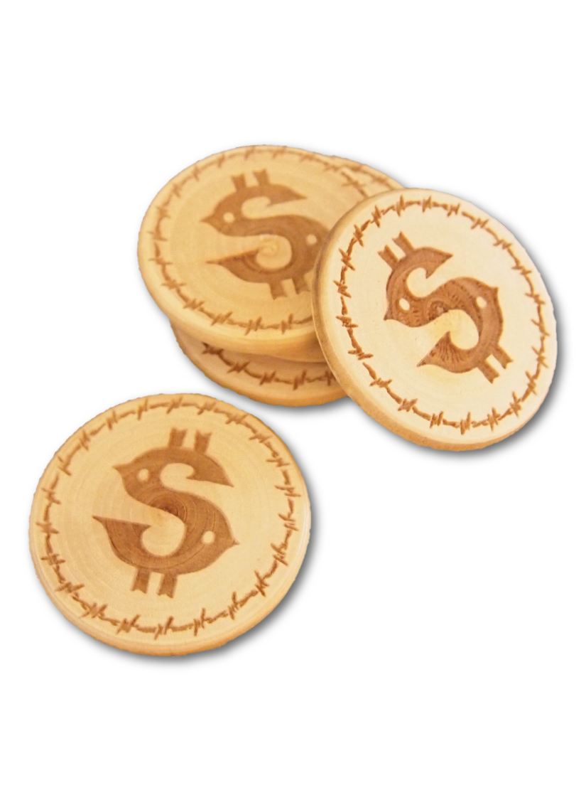 Laser-Etched Wooden Chips