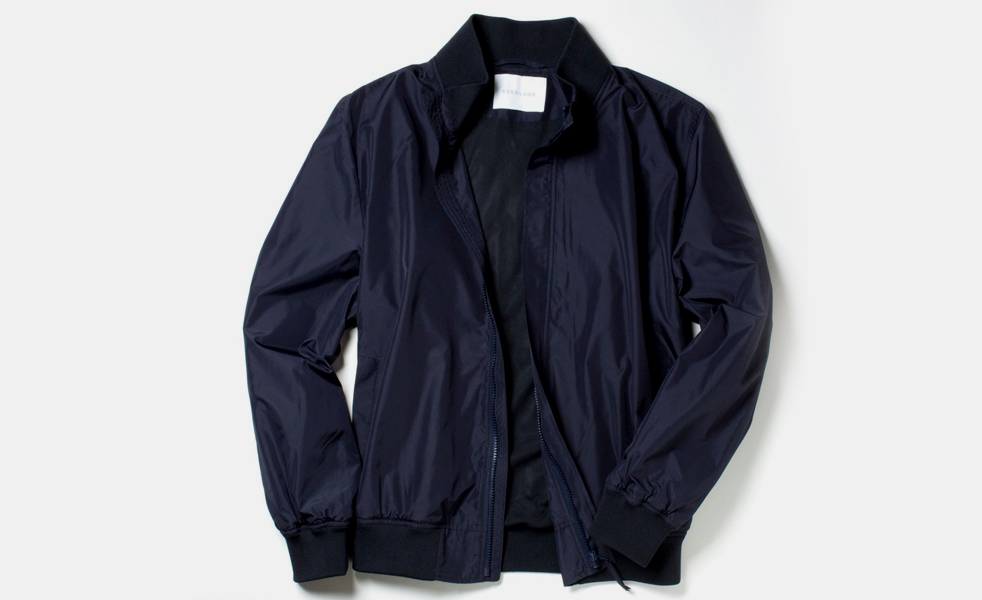 everlane lightweight bomber jacket